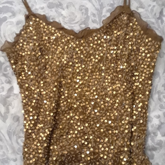 4b73c732b13d6b INC International Concepts Tops - SILK GOLD SEQUIN Top.Fully lined. IN 50%